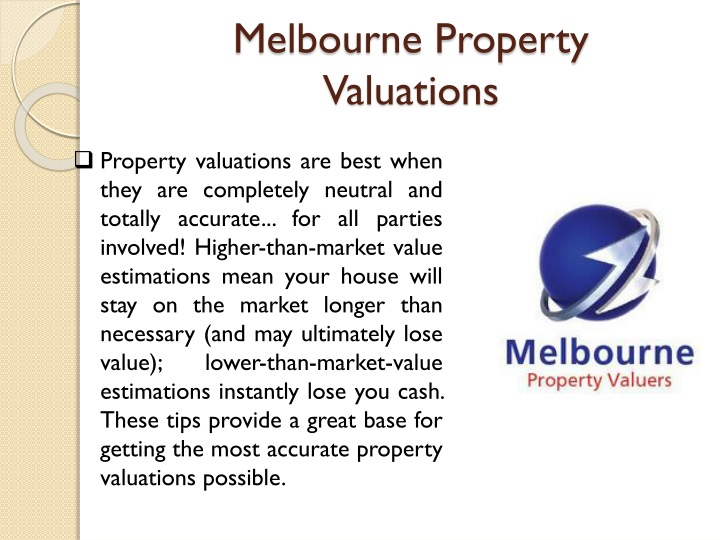 Melbourne property valuations