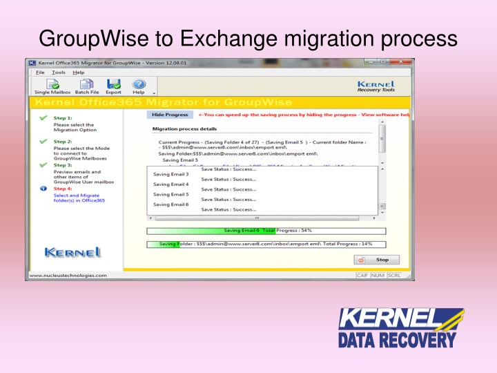 GroupWise to Exchange migration process
