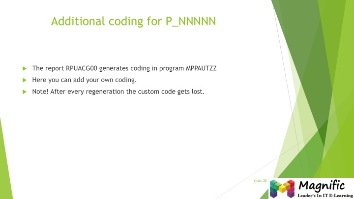 Additional coding for P_NNNNN