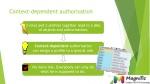 context dependent authorisation