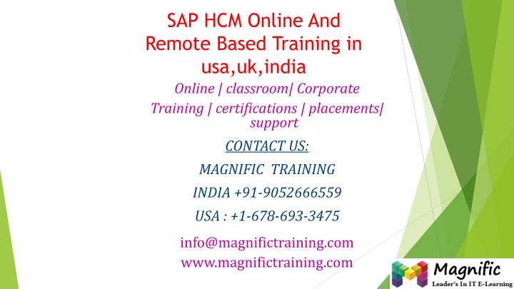 Sap hcm online and remote based training in usa uk india