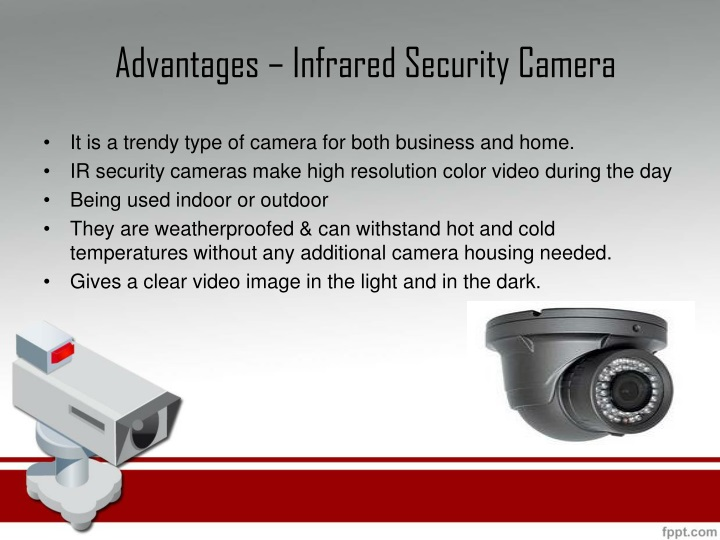 Advantages – Infrared Security Camera