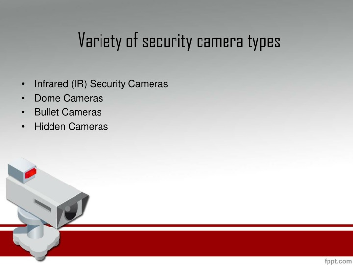 Variety of security camera types