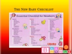 the new baby checklist
