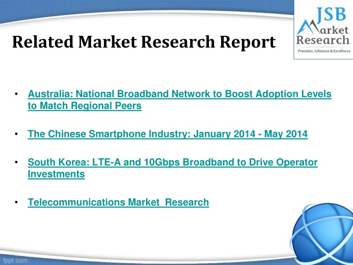 jsb market research uae ftth Find fiber optics market research reports and industry analysis for market segmentation data, market growth and new business op.