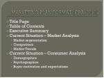 marketing plan format cba 2010