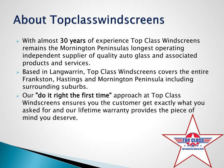 About topclasswindscreens