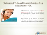 outsourced technical support services from go4customer com