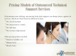 pricing models of outsourced technical support services