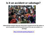 is it an accident or sabotage