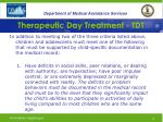 therapeutic day treatment tdt12