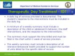 therapeutic day treatment tdt29
