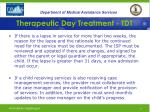 therapeutic day treatment tdt30