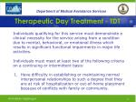 therapeutic day treatment tdt8