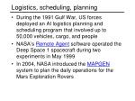 logistics scheduling planning