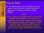 true or false4
