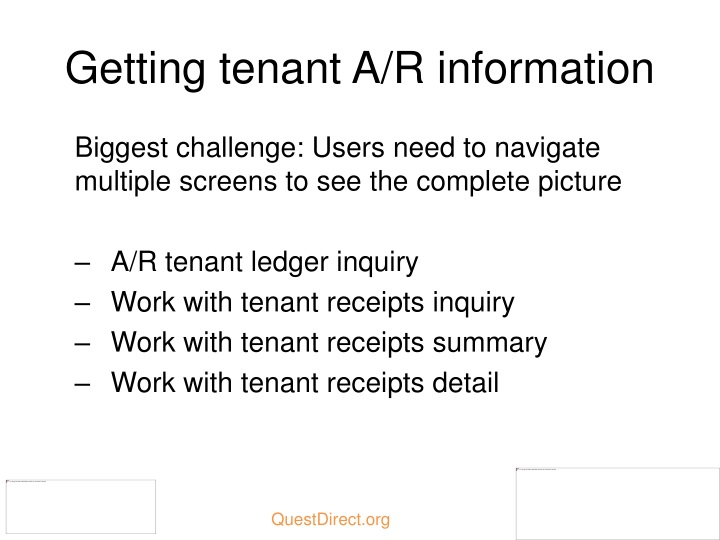 Getting tenant A/R information