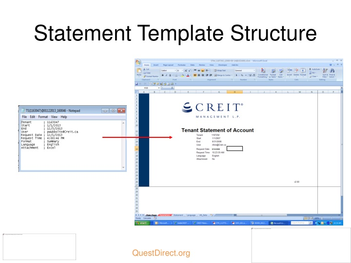 Statement Template Structure