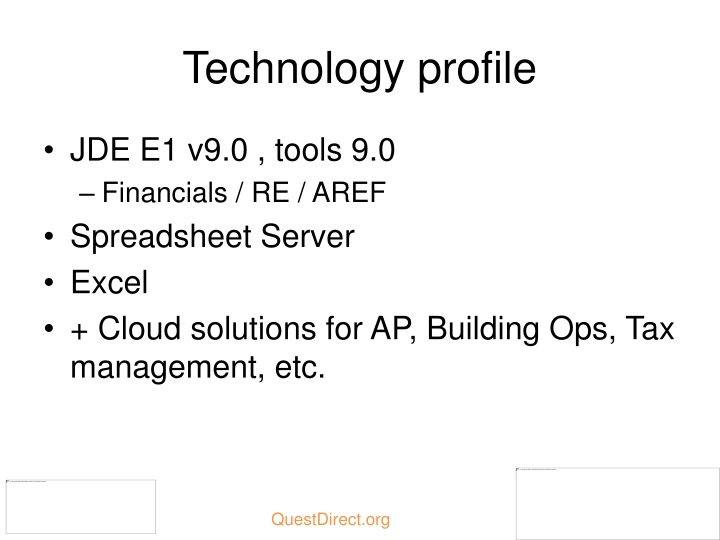 Technology profile