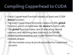 compiling copperhead to cuda