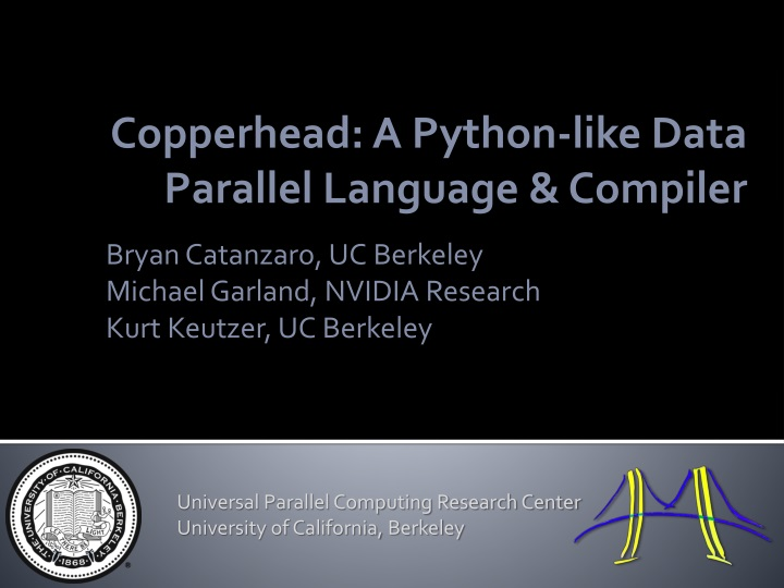 Copperhead a python like data parallel language compiler