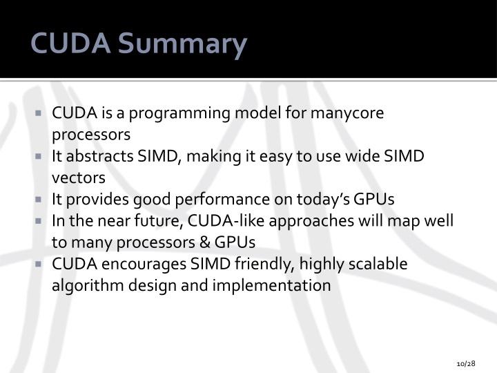 CUDA Summary