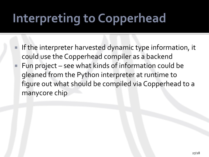Interpreting to Copperhead