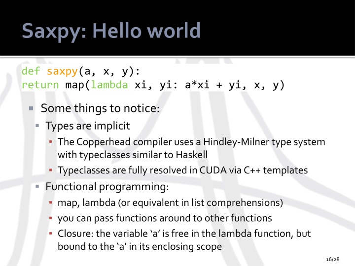 Saxpy: Hello world