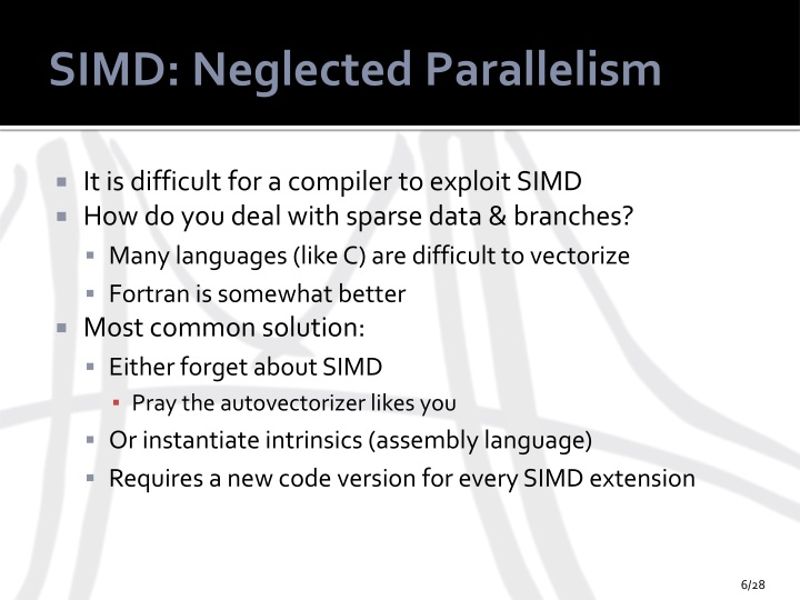 SIMD: Neglected Parallelism