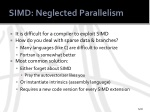 simd neglected parallelism