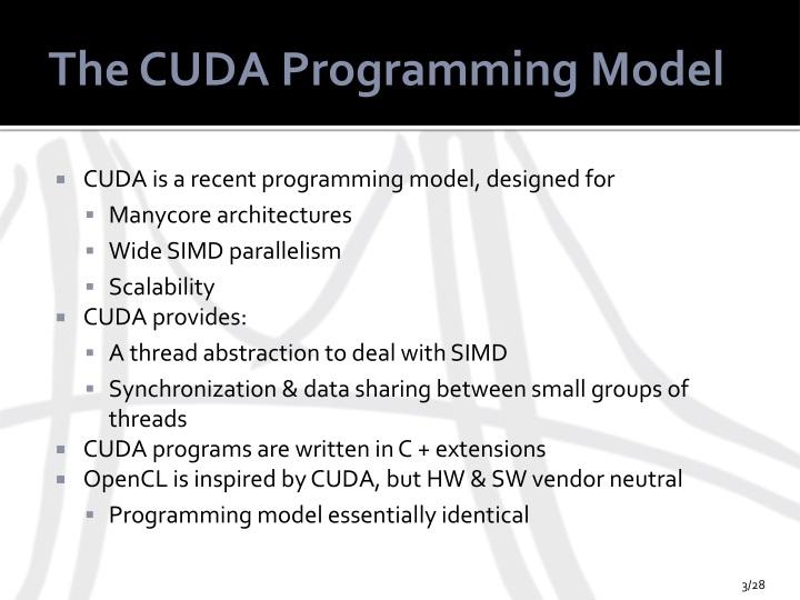The CUDA Programming Model