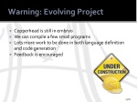 warning evolving project