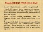 management trainee scheme