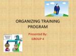 organizing training program