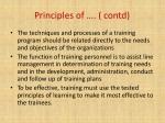 principles of contd