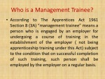 who is a m anagement trainee