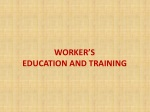 worker s education and training