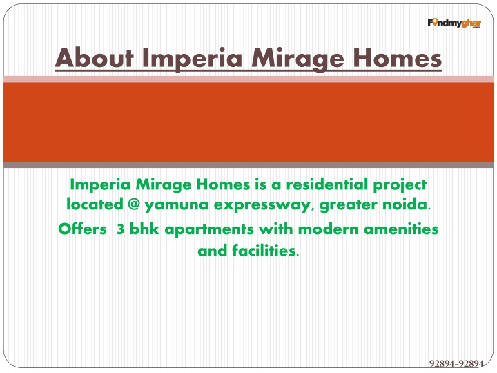About Imperia Mirage Homes