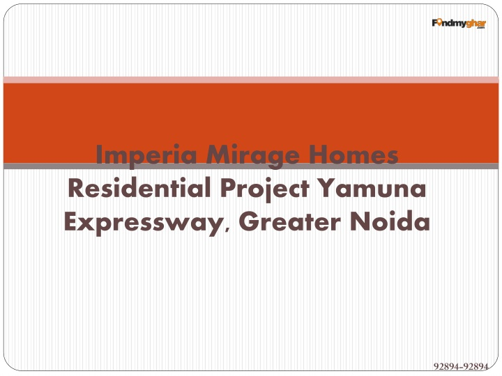 Imperia Mirage Homes Residential Project Yamuna Expressway, Greater Noida