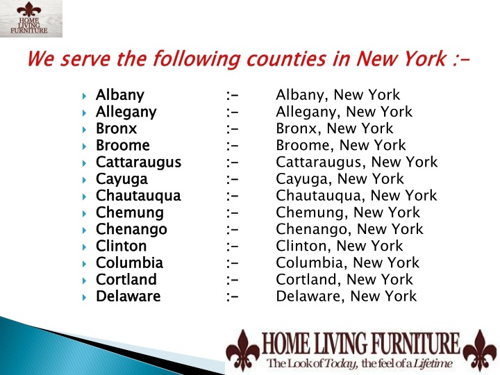We serve the following counties in New York :-