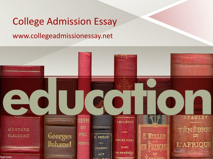 college admission essay for business
