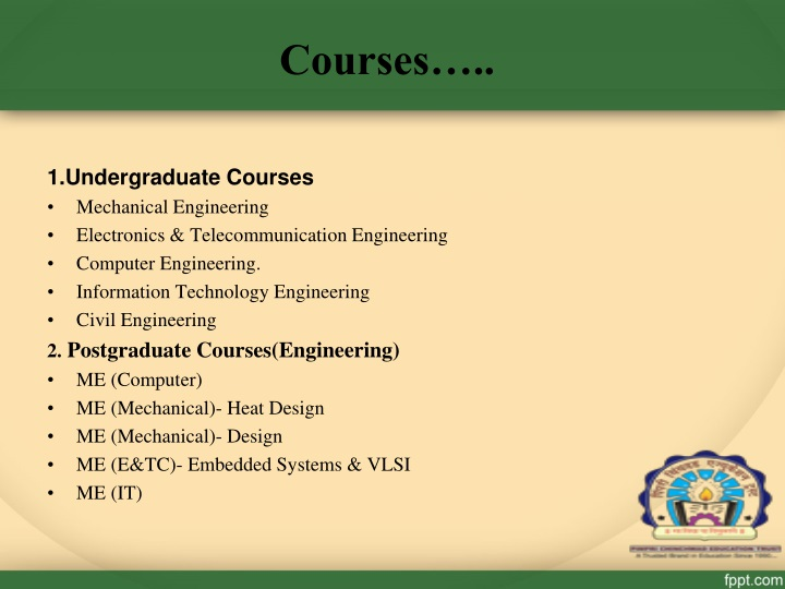 Courses…..