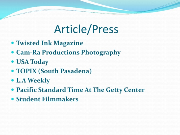 Article/Press