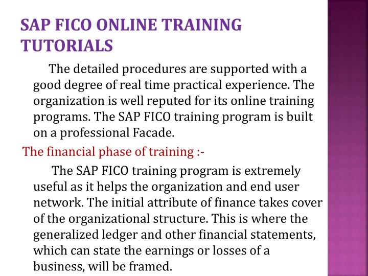 Sap fico online training tutorials