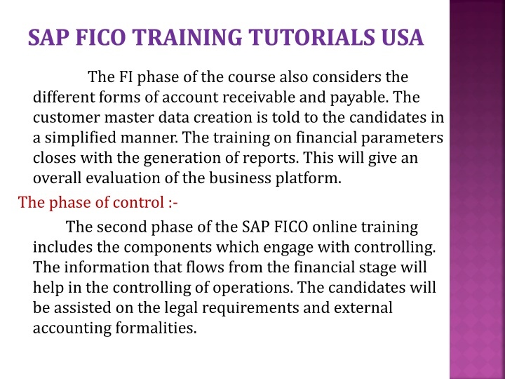Sap fico training tutorials usa