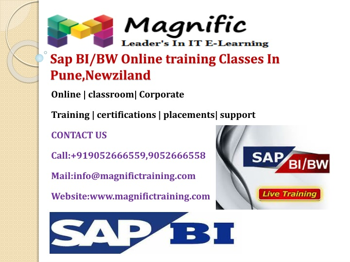 Sap bi bw online training classes in pune newziland