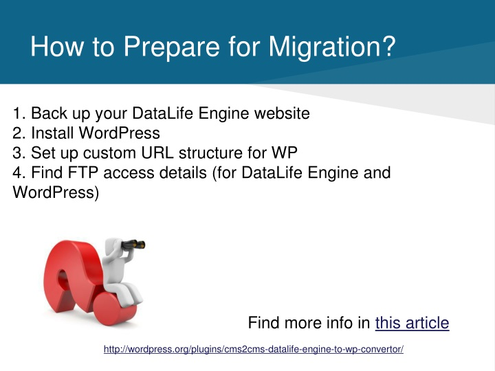 How to Prepare for Migration?