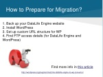 how to prepare for migration