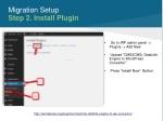 migration setup step 2 install plugin