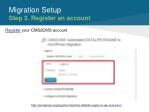 migration setup step 3 register an account